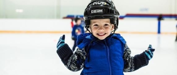 Child Skating at Oak Bay Recreation