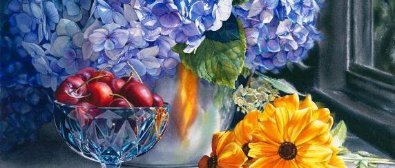Olson, Jennifer, 2, Reflections of Joy and Abundance, 14.5 x 20.5 inches, watercolour, 2020