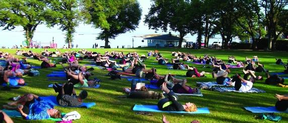 Yoga at willows Park