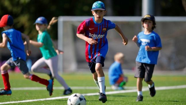 soccertron kids playing