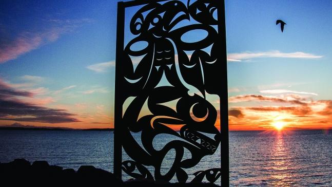 Salish Sea, sculpture by Chris Paul, Photo by Britt Swoveland
